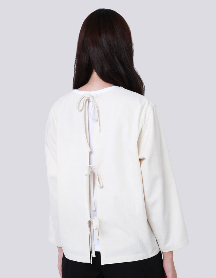 halominium) back ribbon smock (재입고)