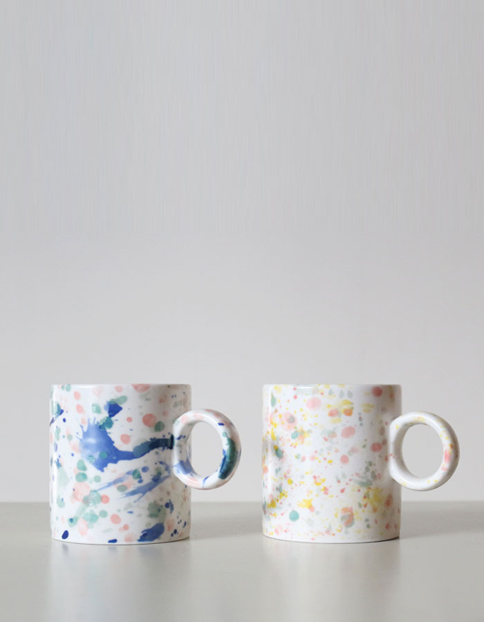 bluehour) spattered mug
