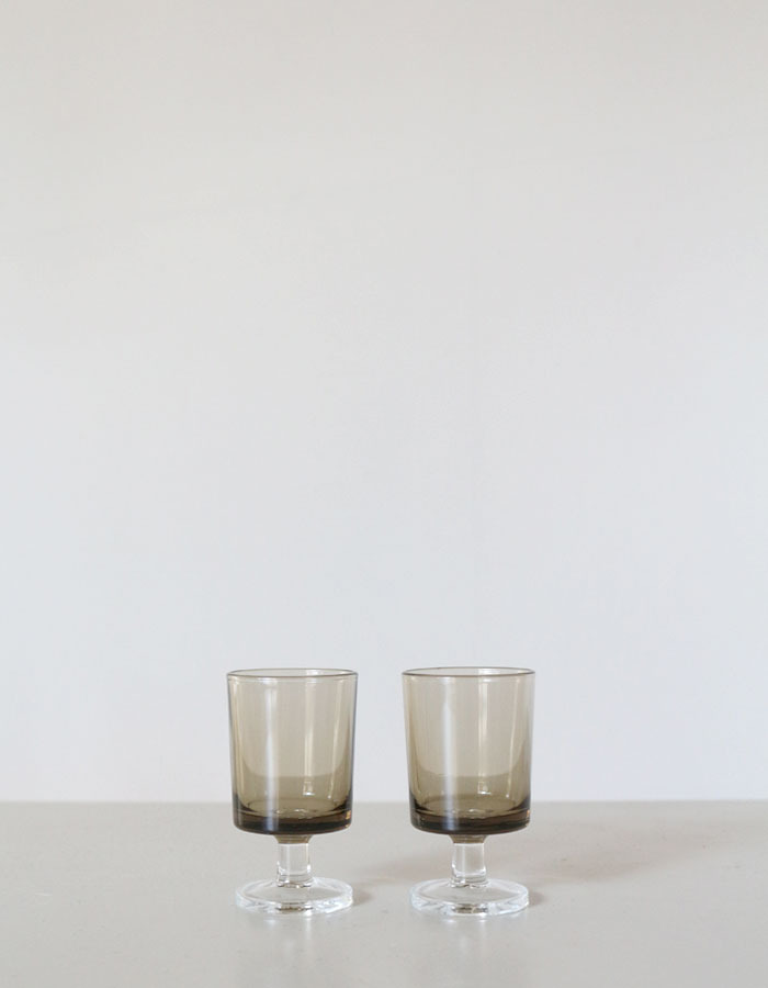 vintage) smokey grey shot glasses