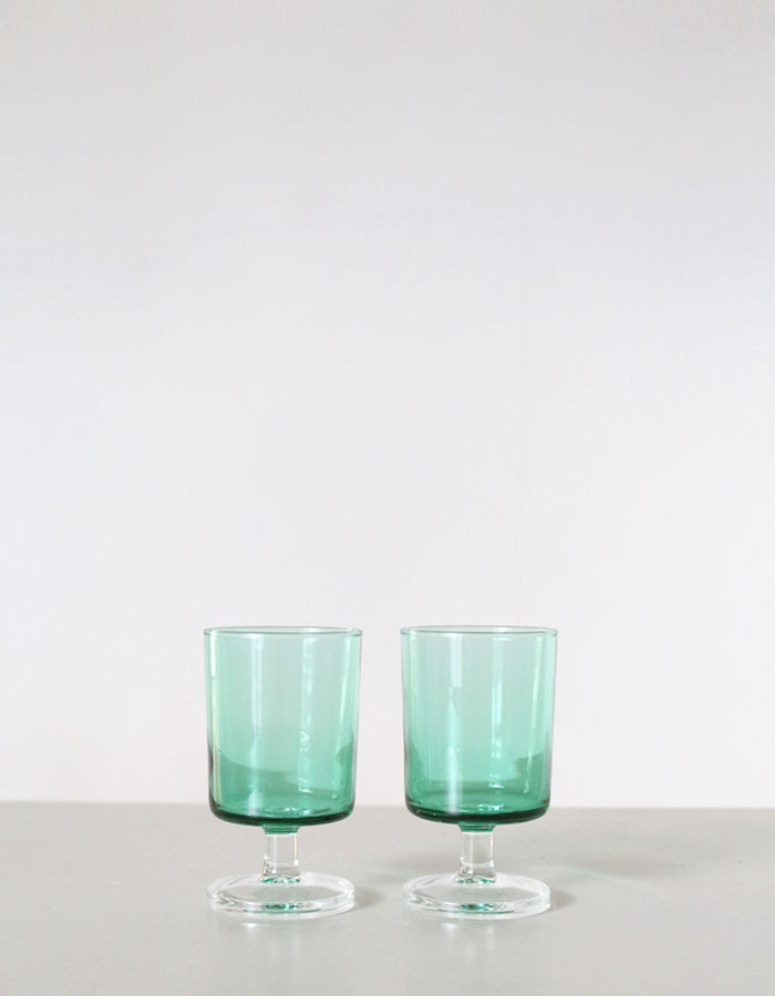 vintage) green water glasses