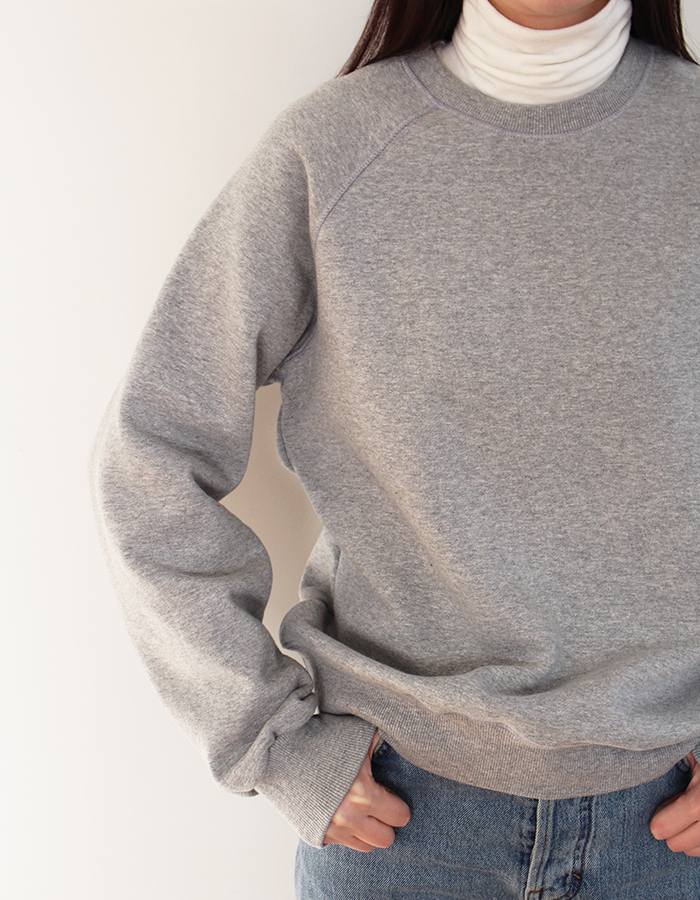 al,thing x halominium) half sweat shirt - gray