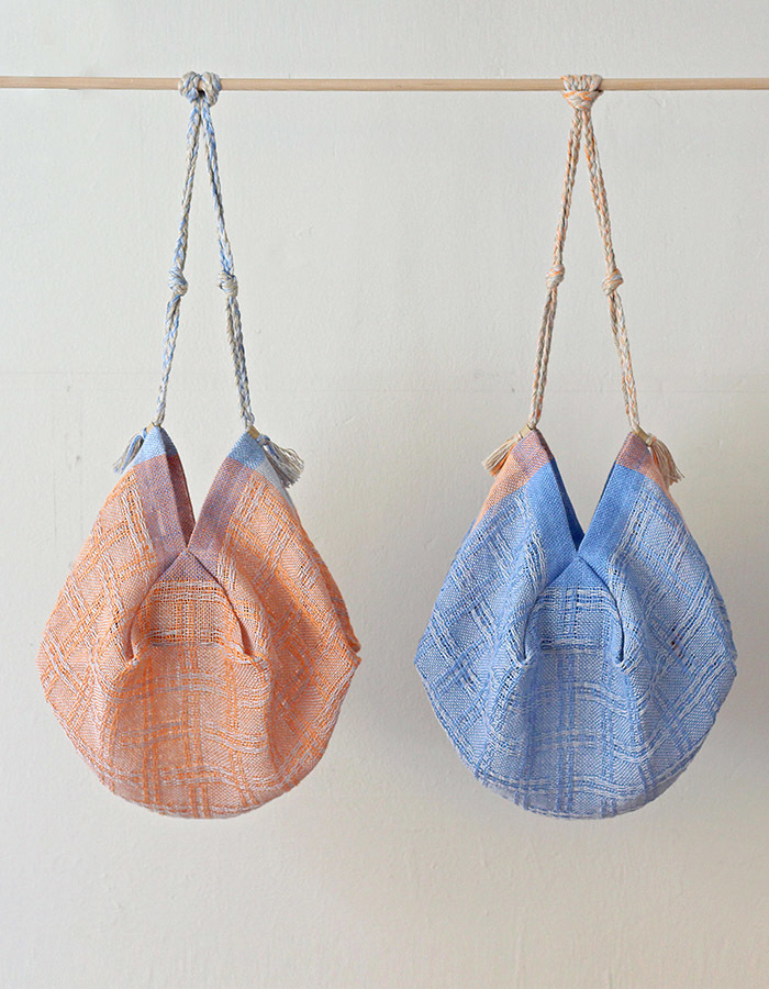 handwoventextile) linen lace bag - 3차 재입고