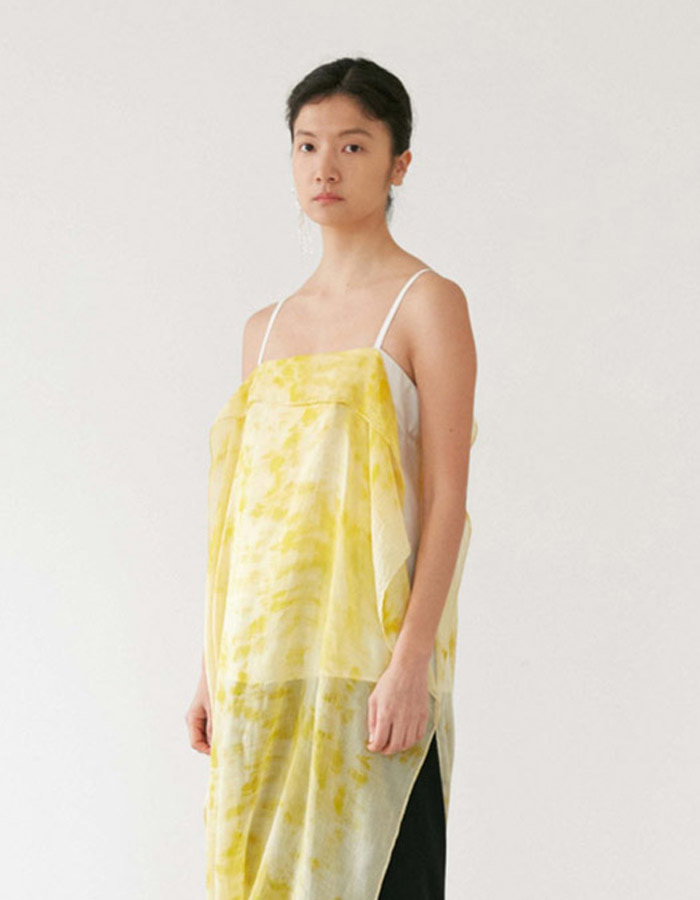 teak) marigold scarf-layered sleeveless