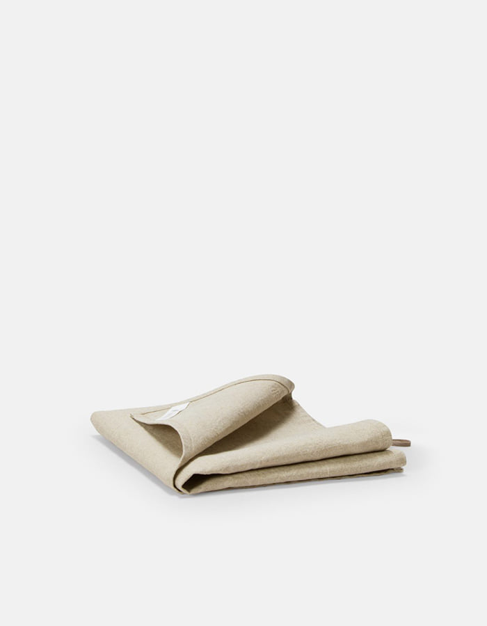 ilsangjingmul) heavy linen kitchen cloth - sand beige