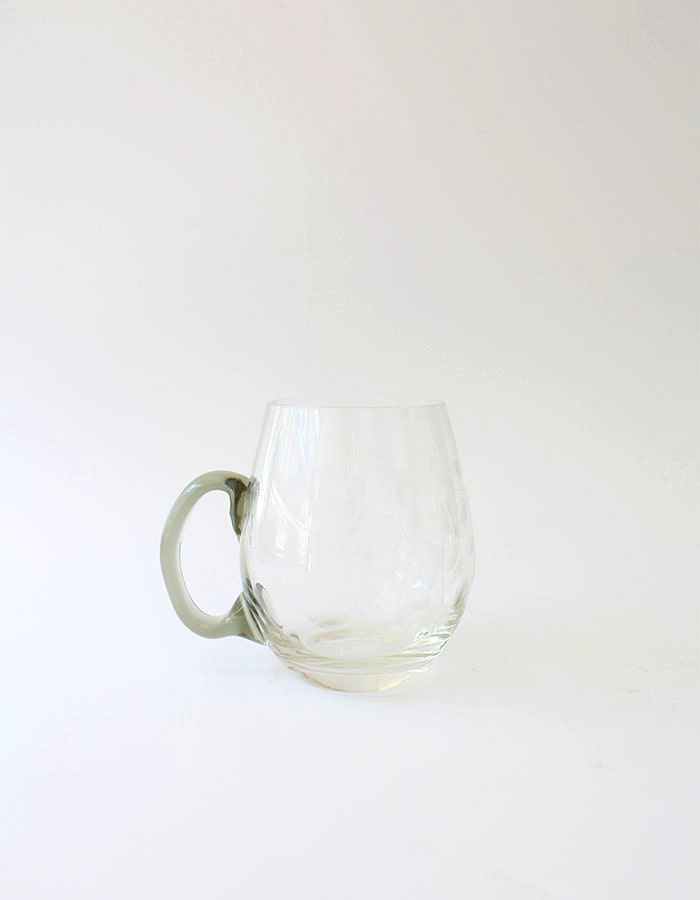vintage) leaf glass cup