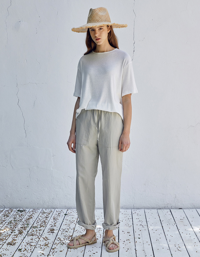 hier) linen string pants (2colors) - 마지막 제품