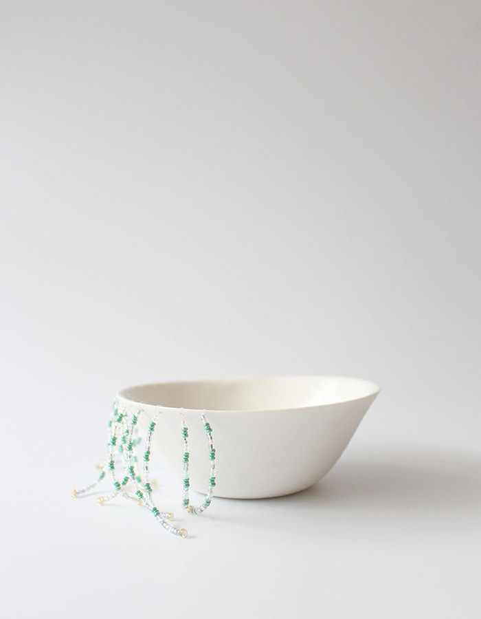 jaeryo) beads hair bowl