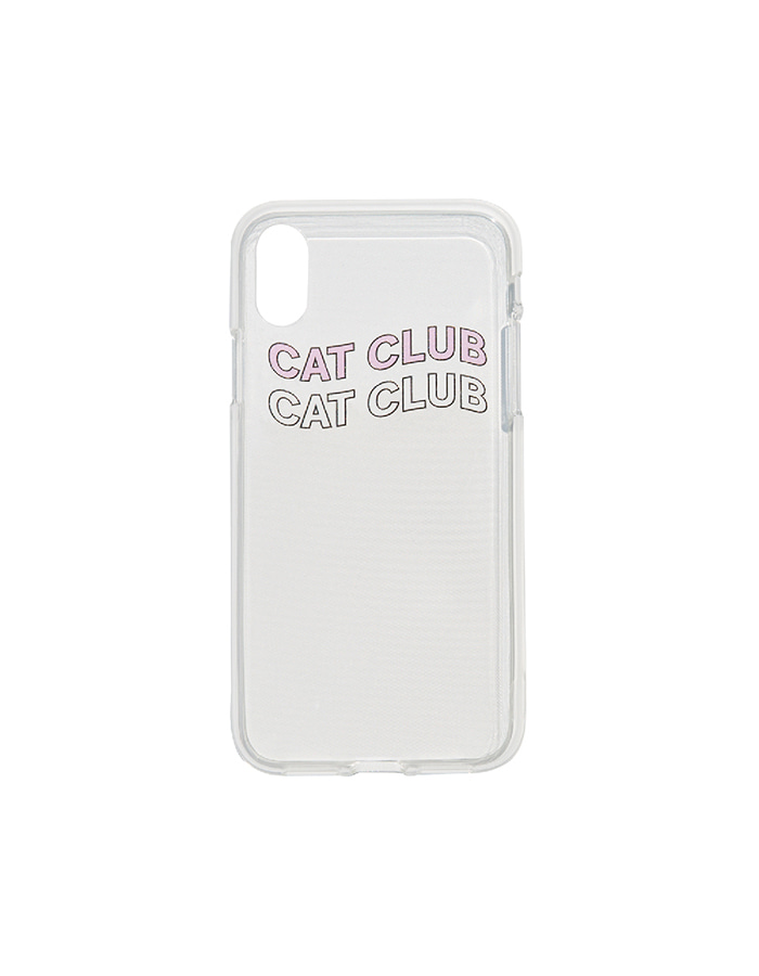 purr) cat club iPhone case Pink