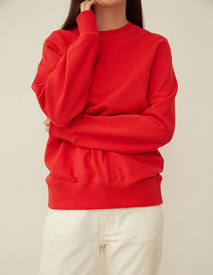 al,thing) half sweat shirt - red(B급) - 마지막 수량