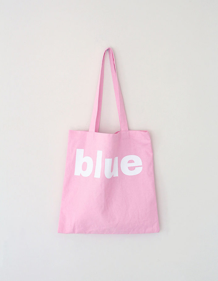 blue hour) 'blue' souvenir bag -pink