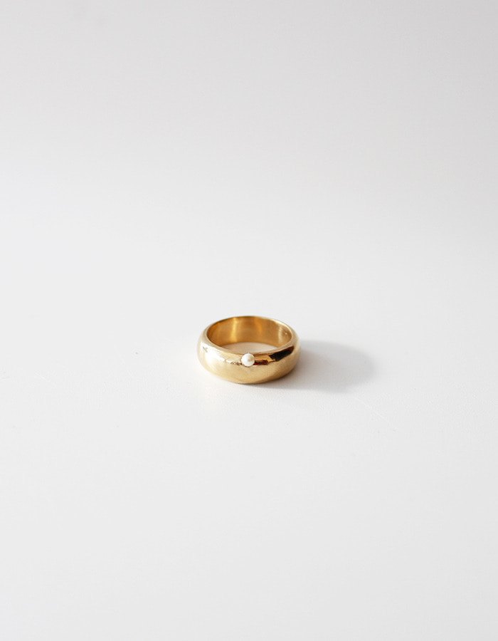 orbes) Petit pearl band ring