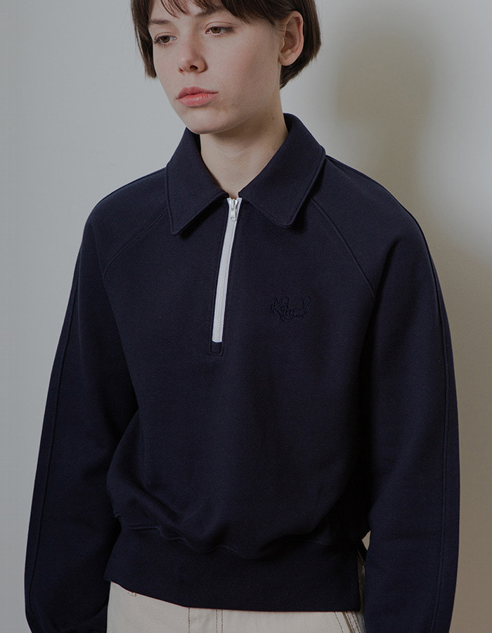 Ma Journée) HALF ZIP-UP MTM_NAVY - 재입고