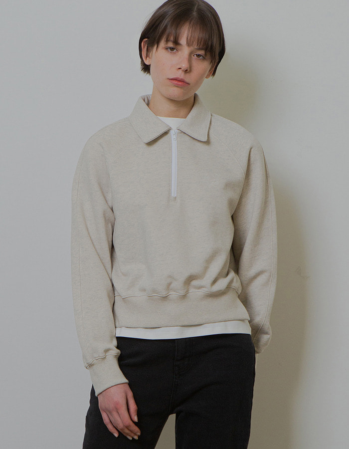 Ma Journée) HALF ZIP-UP MTM_OATMEAL - 2차 재입고