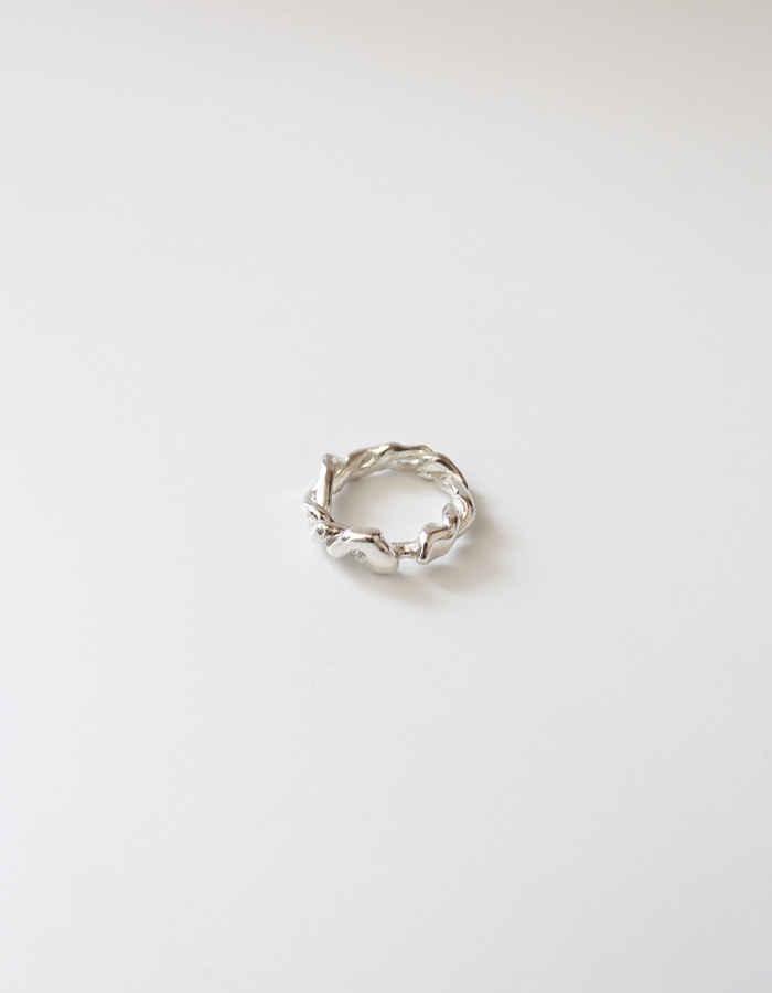 orbes) Fade twisted ring