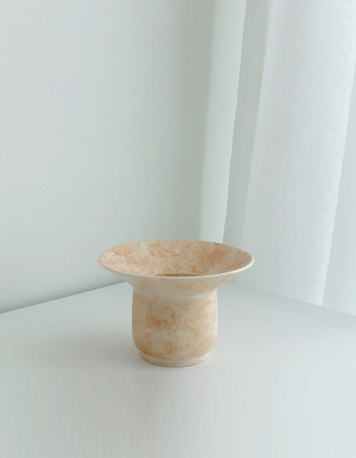 lapalma) lpm pale beige vase & holder