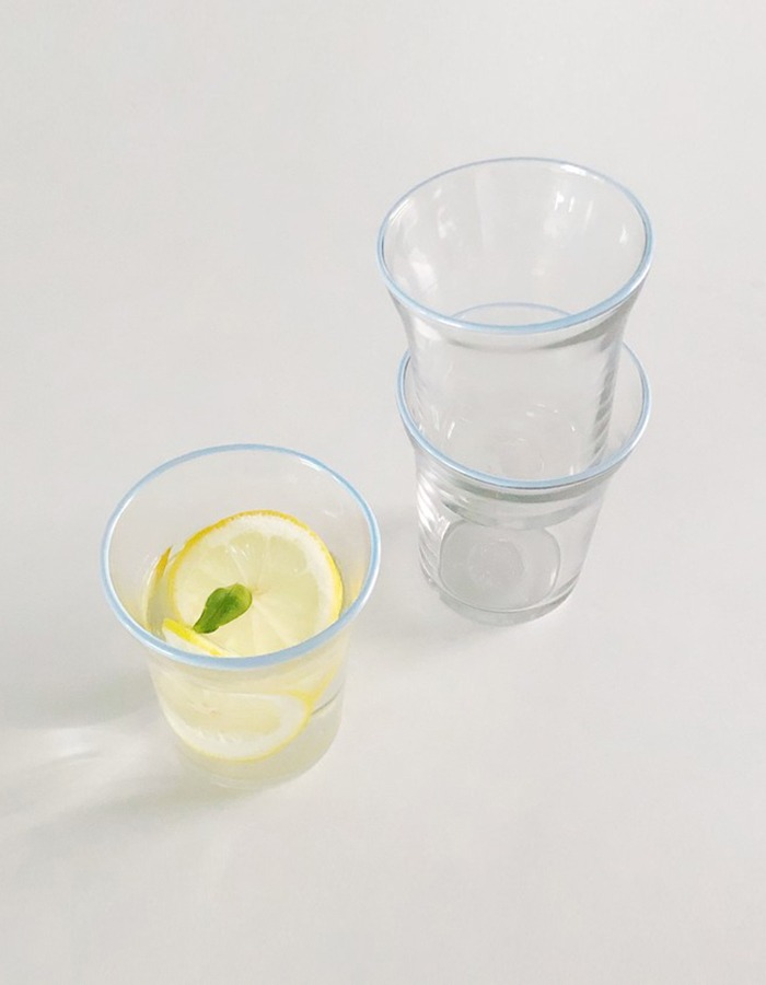 lapalma) lpm pluffy colored glass cup - vanilla lemon, pale pink, pale blue