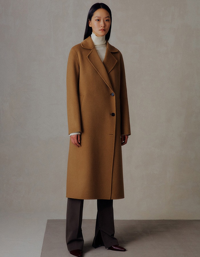 Ma Journee) CASHMERE DOUBLE HANDMADE COAT_CAMEL