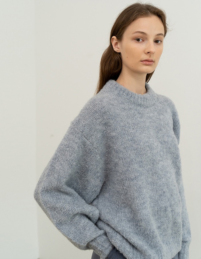 RE RHEE) ALPACA WOOL BLEND KNIT SWEATER TOP - 재입고