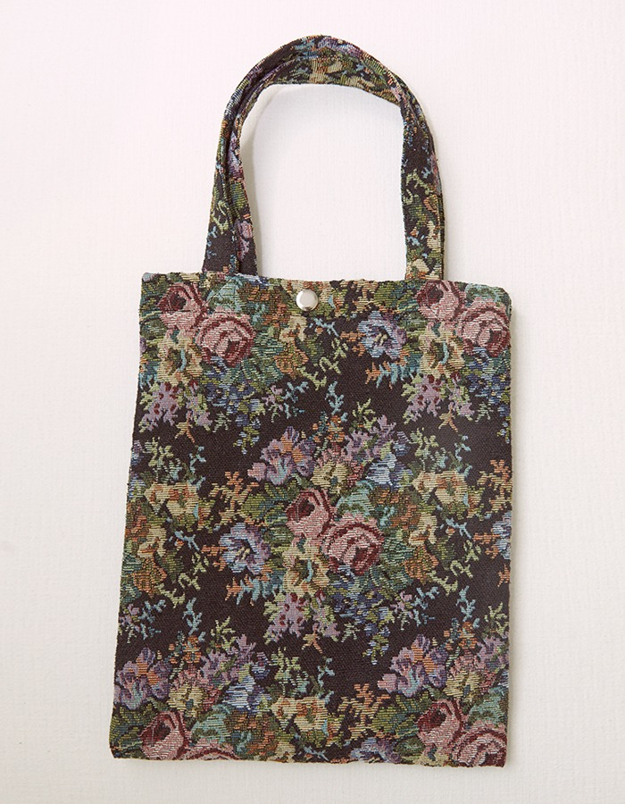 cosmoss) Floral Zagard Bag (Black)