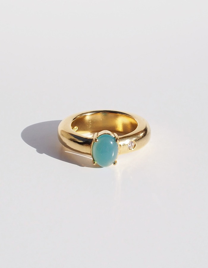 inodore) Pot ring _ blue jade