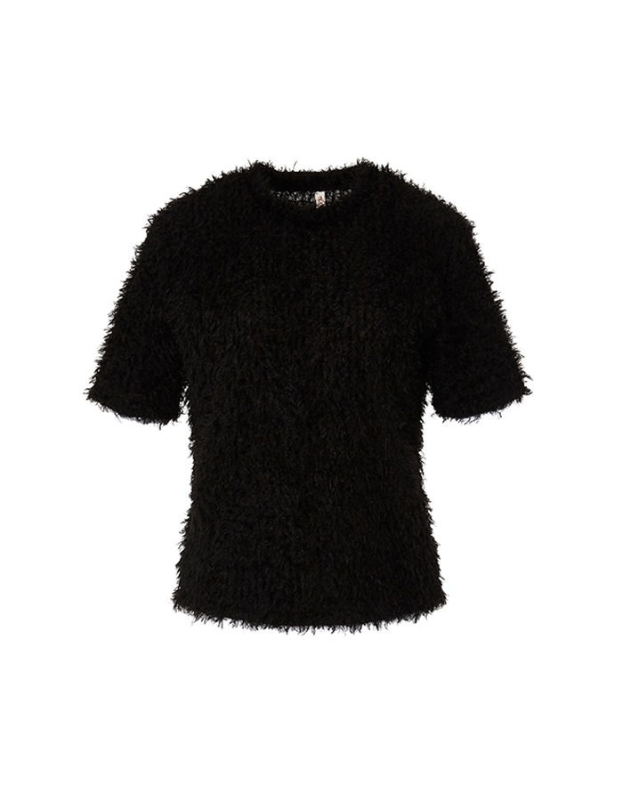 teak) BOUCLE KNIT TOP (BLACK) - 재입고